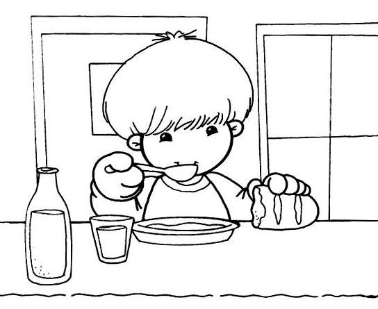 Niños comiendo imagenes para colorear - Imagui