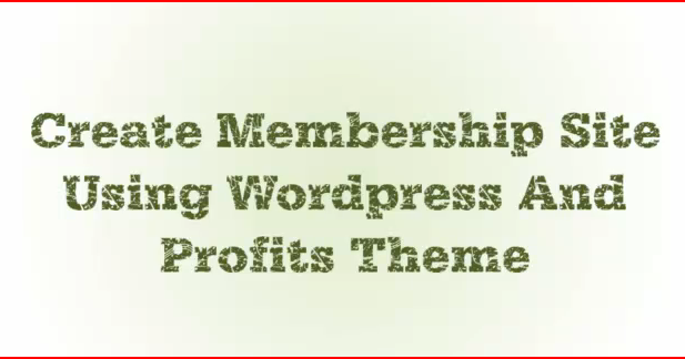 how to create a membership site with wordpress