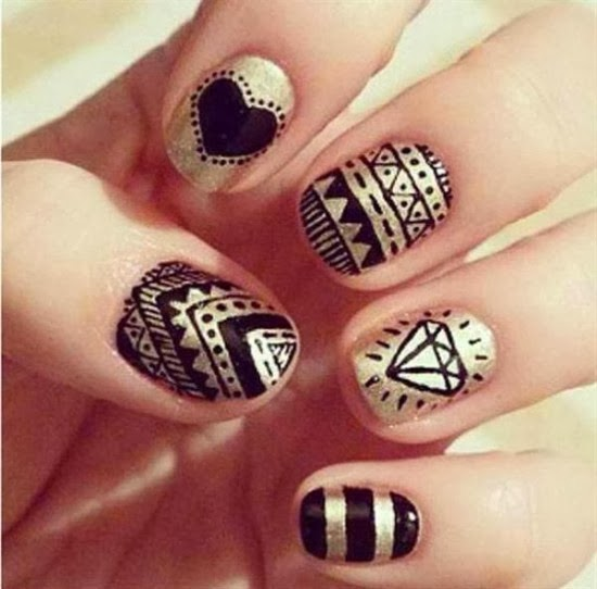 Beautiful Multi Nail Art Designhttp9ailssidespotnail Side