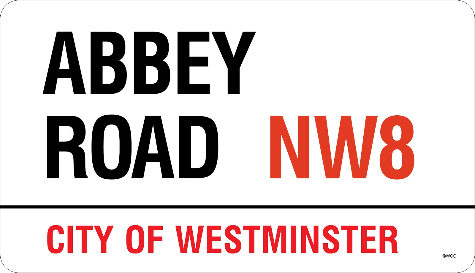 British Beatles Fan Club New Shop Item Genuine Abbey Road Street - Street sign template