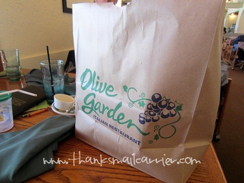 Olive Garden take out