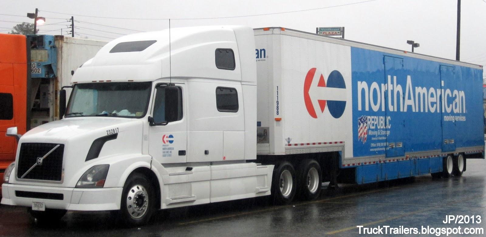 NORTH AMERICAN VAN LINES Inc. VOLVO Sleeper Cab Truck, Moving Van Trailer Republic  Moving U0026 Storage Chula Vista California North American Moving Services
