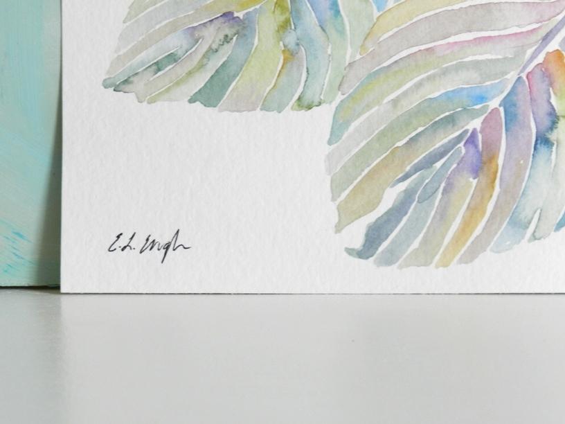 Tropical Leaves Original Watercolor Painting by Elise Engh: Grow Creative