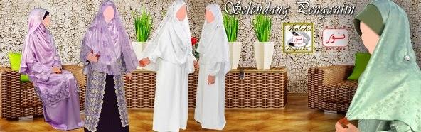 Selendang pengantin labuh muslimah