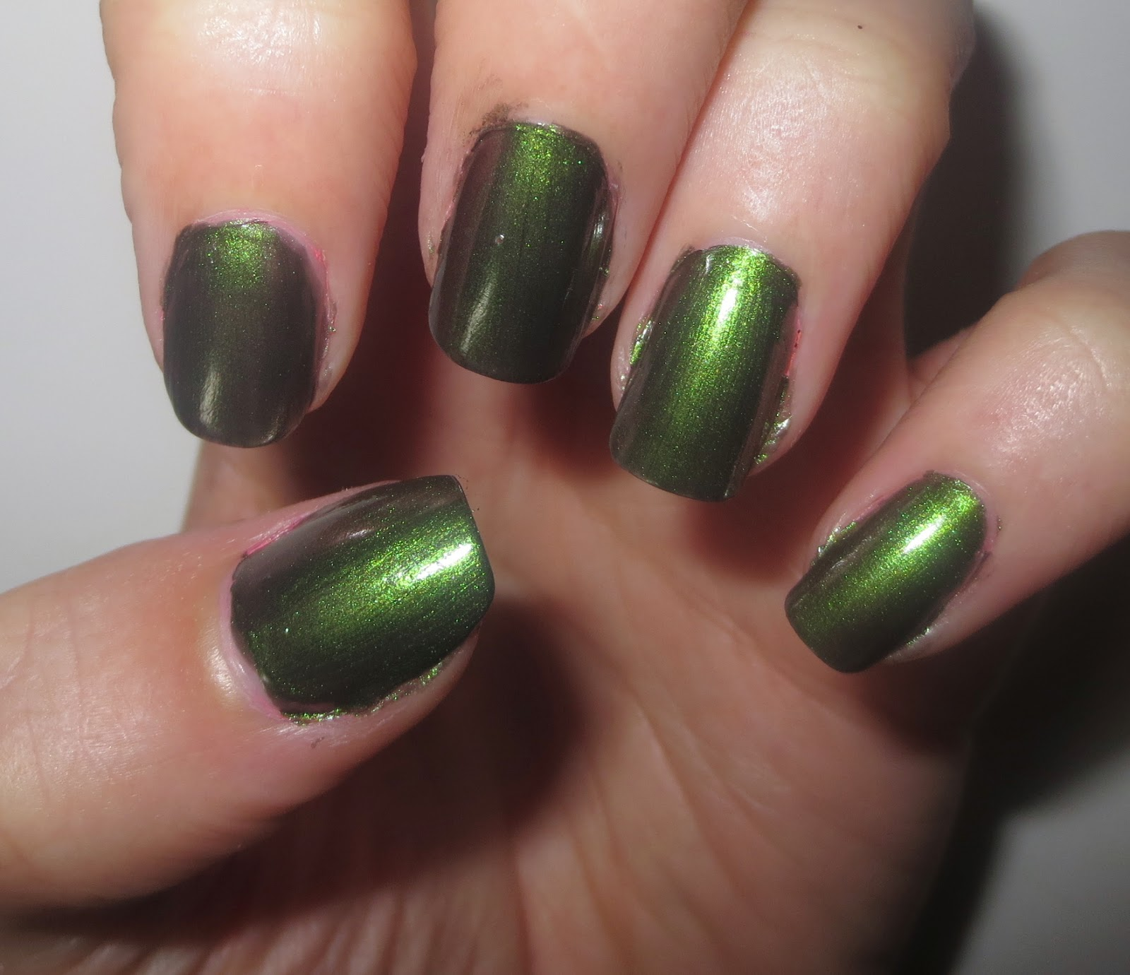 OPI Green On the Runway Swatch
