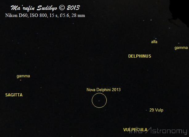 Nova Delphini 2013 dan Foto-fotonya dari Seluruh Dunia