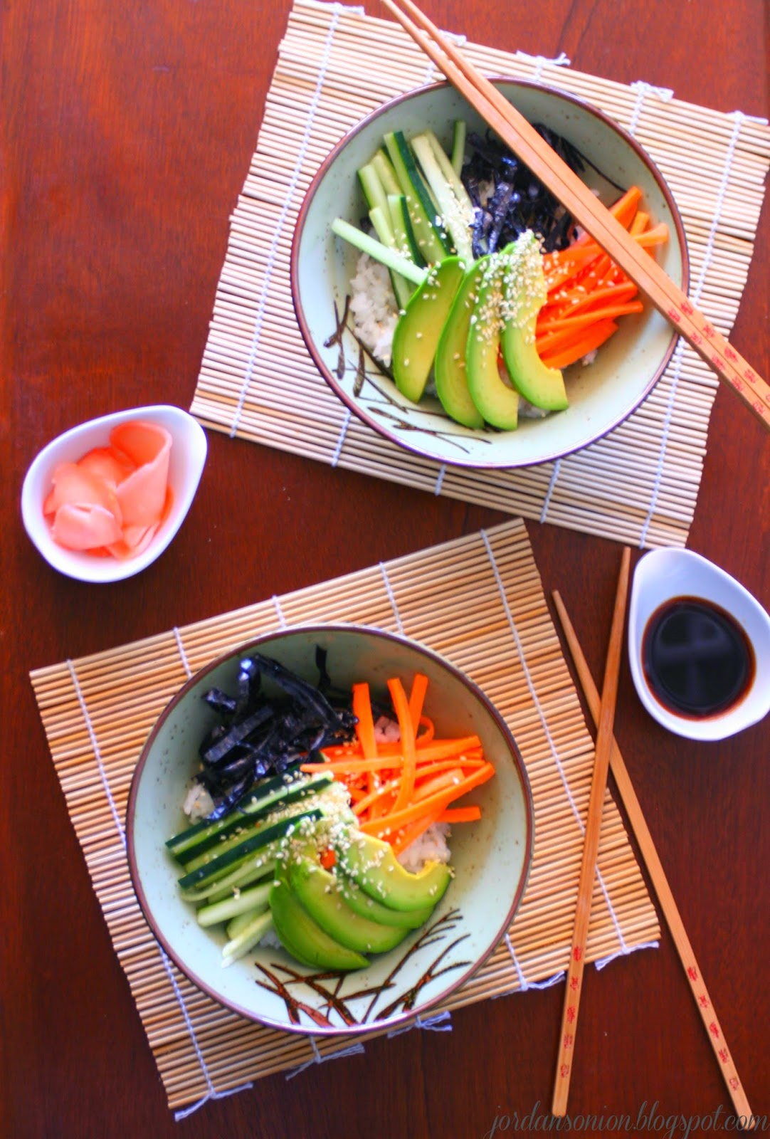Jordan's Onion: Deconstructed Sushi Bowl
