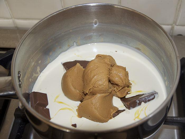 Nigella Lawson Chocolate Peanut Butter Ice Cream Sauce Quick Pudding Dessert