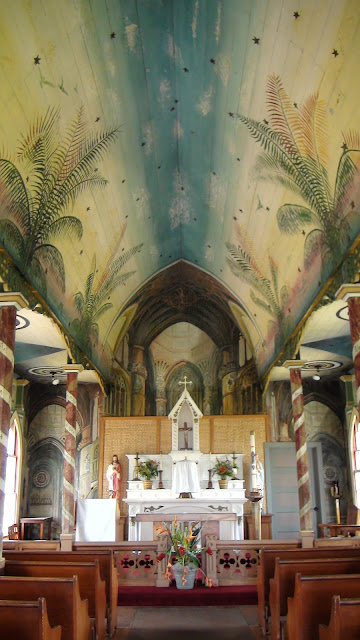 Painted Church Ceiling, Hawaii (c) Travel Gravy 2012