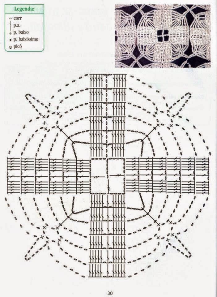 Almohadón o cojín tejido al crochet - con patrones
