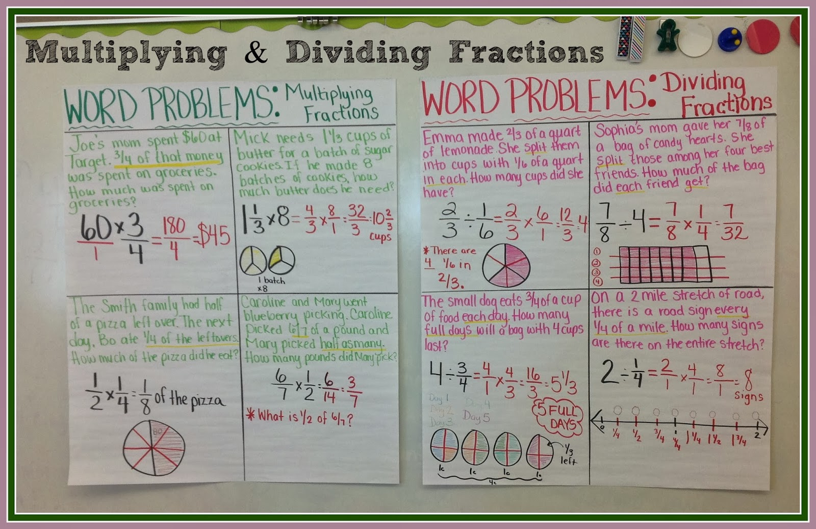 Worksheet Fraction Multiplication And Division Word Problems teaching with a mountain view making sense of multiplying they all agreed that this helped them to better tell the difference between two types problems as we speak im typing up mixe