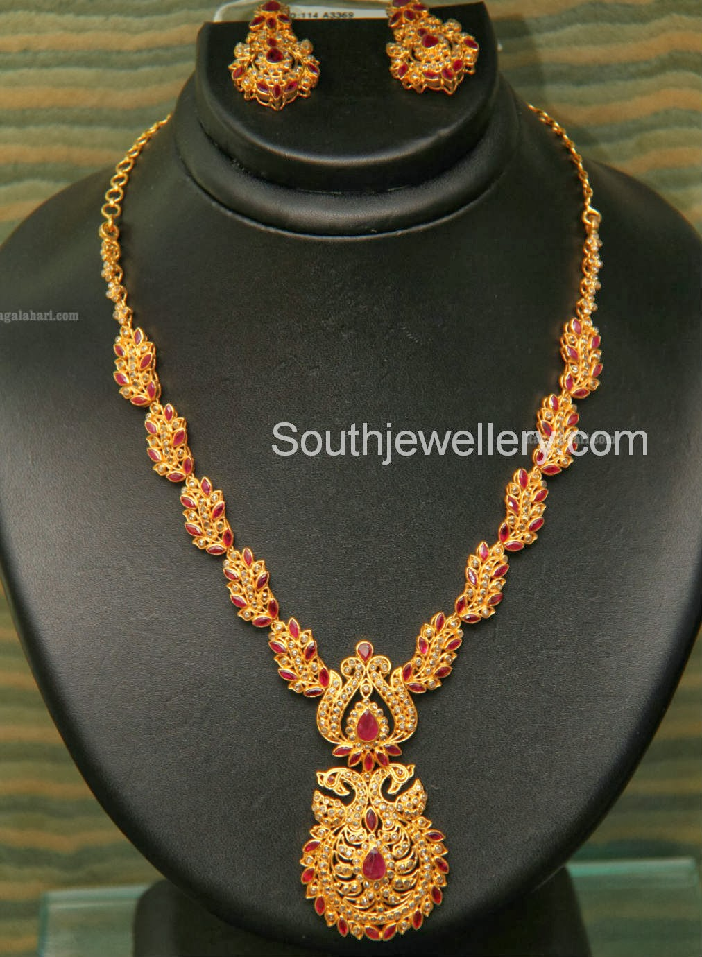 Gold necklace designs in grt jewellers - Uncut Diamond Necklace By Grt Jewellers