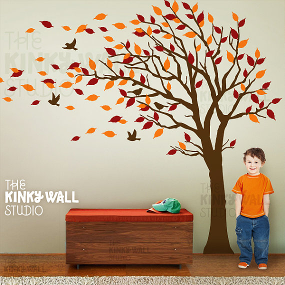 love decals and this one is amazing. Autumn Tree Decal from ...