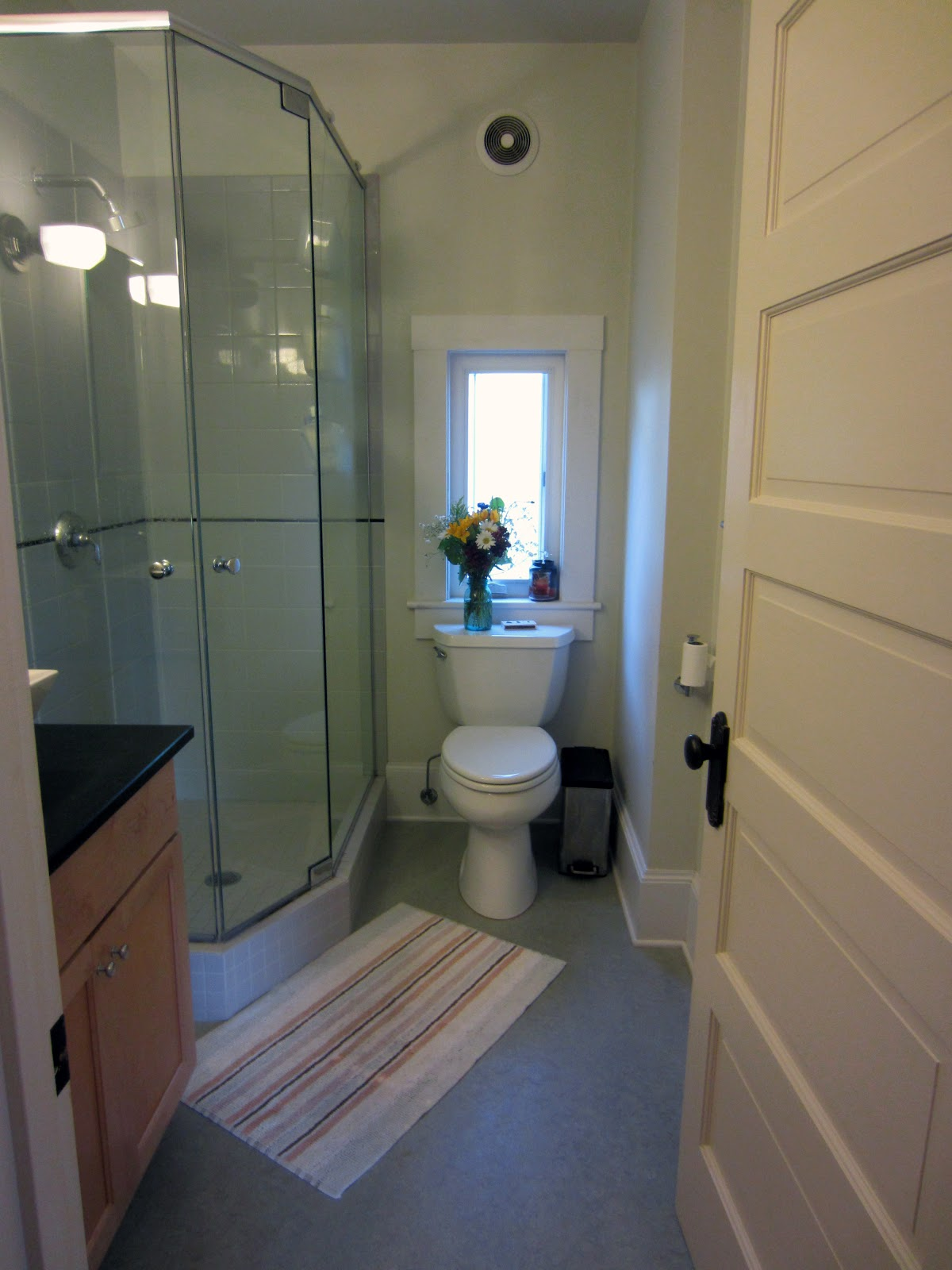 castle and mason bathroom trim painting around the toilet
