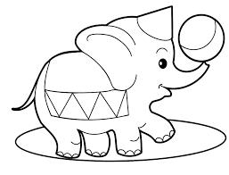mewarnai gambar gajah untuk anak 19