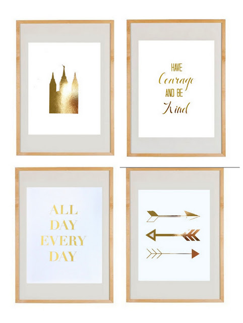 gold foil print, gold art, foil art, temple foil print, have courage and be kind, all day every day, arrows, gold foil arrows, gold foil arrow, foil temple, typography, letter art, always lou, studio 7 interior design, interiors, giveaway