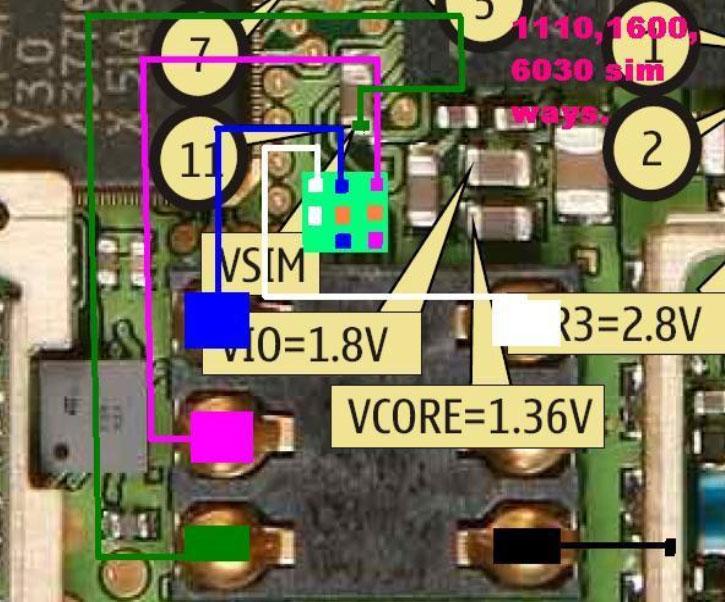 Nokia C1-01 Sim Ic Jumper