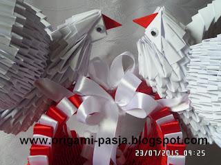 Papier, ślub, origami