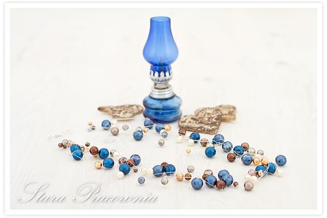 korale z pereł, biżuteria autorska, biżuteria ręcznie robiona, naszynik z pereł