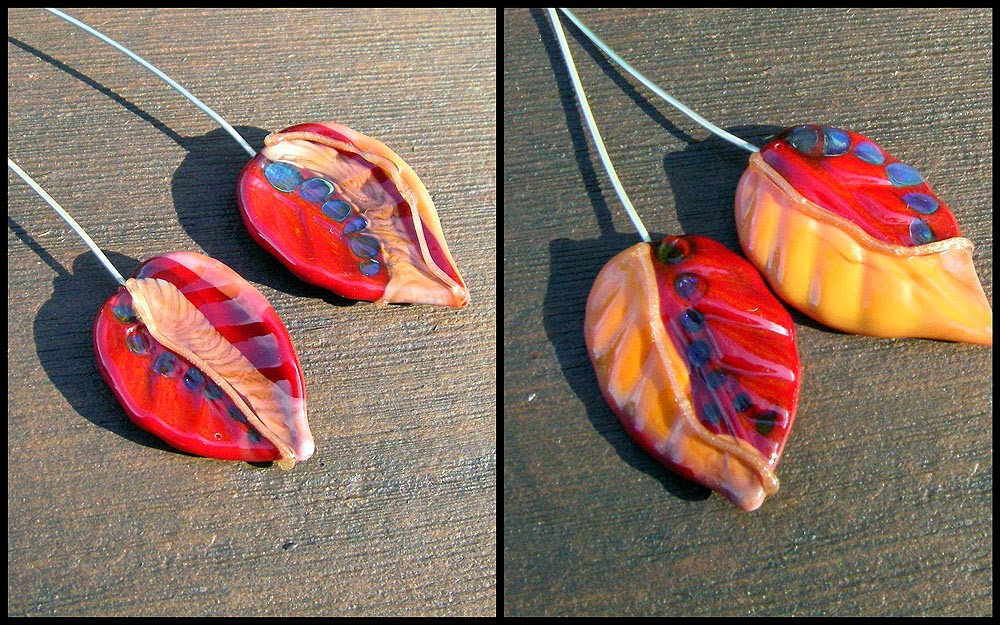 Lampwork Leaf Headpin Tutorial Video