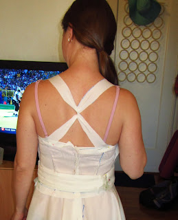 Fitting a muslin for bridesmaid dresses | Bobbins of Basil