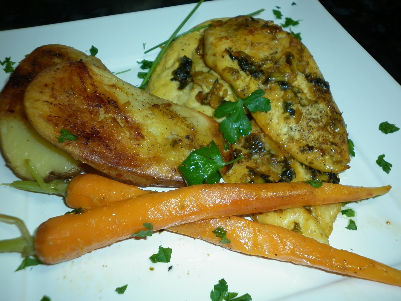 La cocina de puri pastor filetes de pollo al horno con - Pechugas de pollo al horno con patatas ...