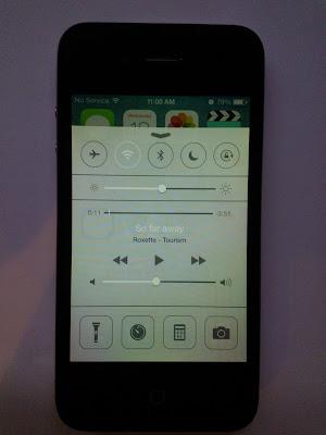 Iphone 4, iOS 7 Control center