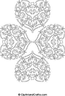 Lace Hearts Coloring Pages