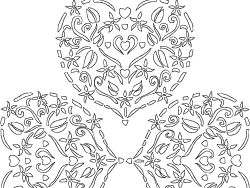 Bear Valentine Heart Coloring Pages