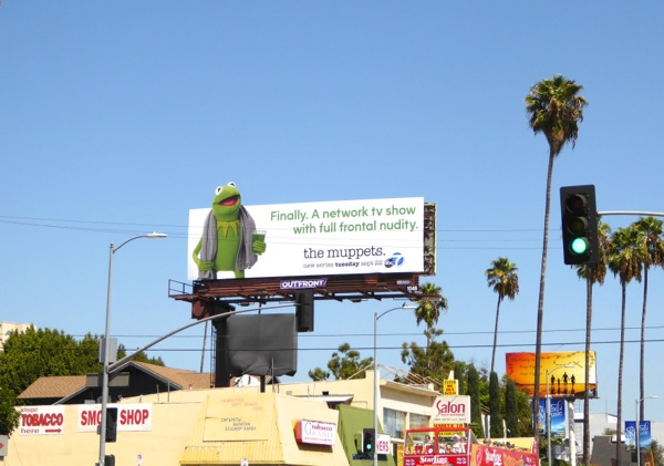 Kermit The Muppets series billboard