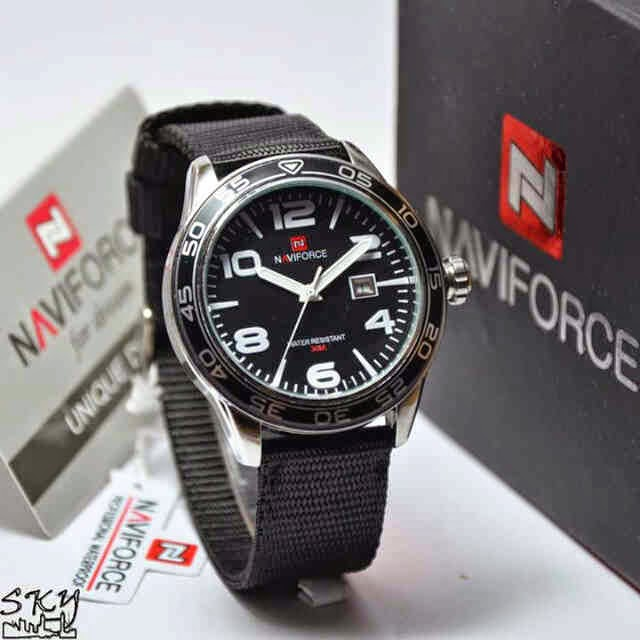 Naviforce 9032 silver putih