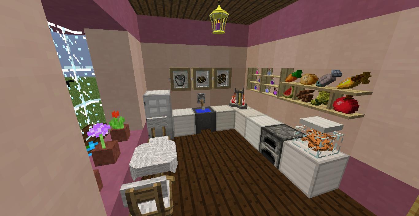 Hermosa Cocina En Minecraft Componente - Ideas Del Gabinete de ...