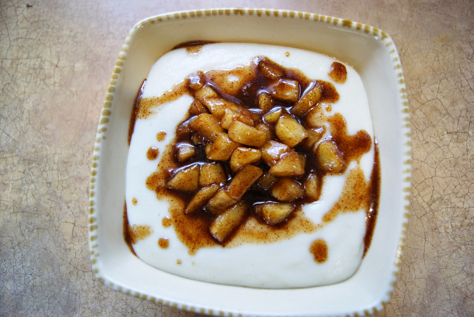 kasza manna z jabłkami