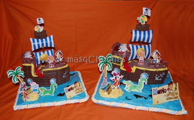 Tarta Barco Jake y los Piratas de Nunca Jamás. Refª.: 069