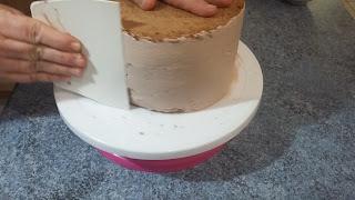 lissage du gâteau
