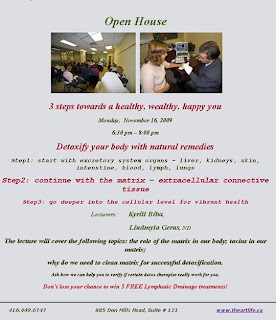 Open House: Detoxify Your Body with Natural Remedies: Step 2. Continue with The Extracellular Matrix: November 16, 2009