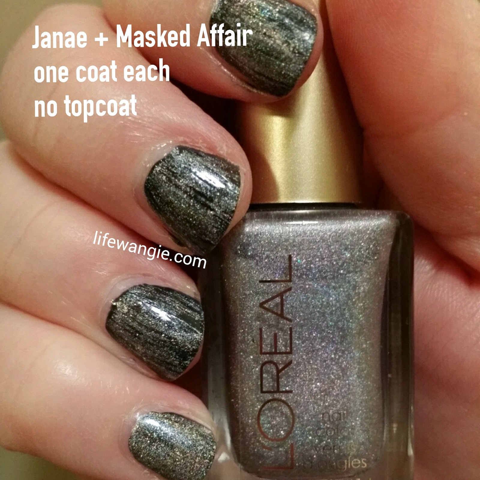 Janae and Masked Affair- One coat each- No top coat