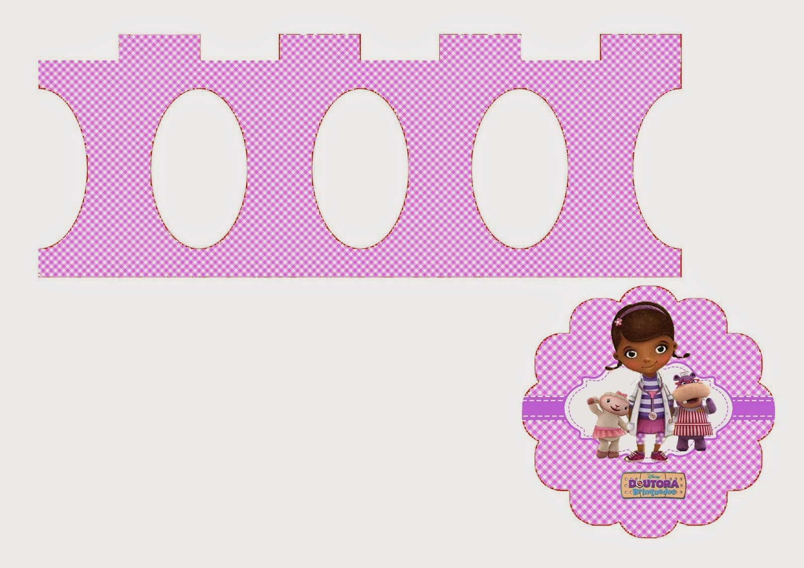 Doc McStuffins: Free Printable Mini Cupcake Stand. | Is it for PARTIES ...