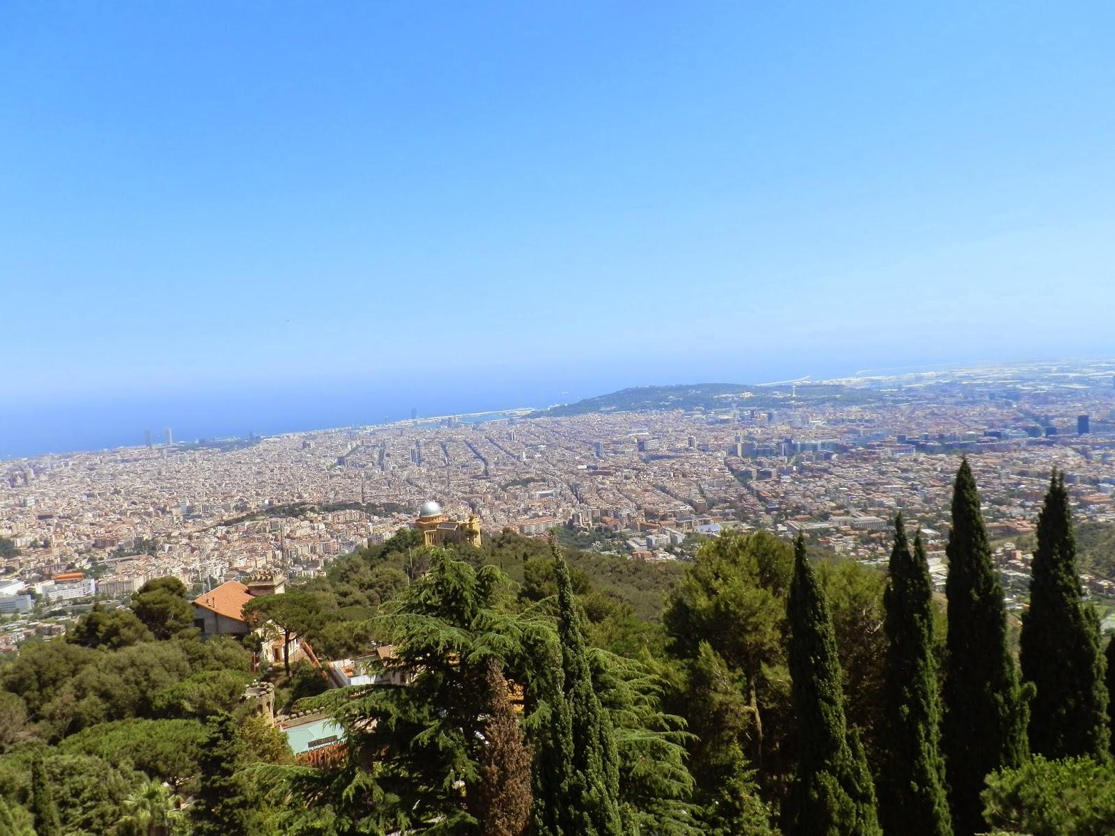 Vues sur Barcelone depuis Tibidado