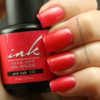 Glam and Glits Ink Soak Off Gel Polish Pink Lush Swatch