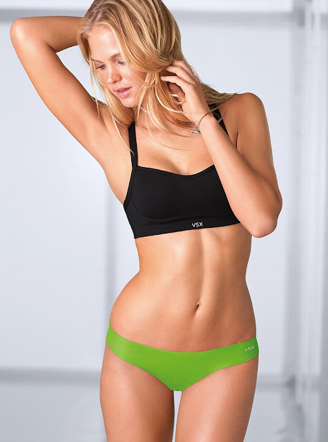 Erin Heatherton in Sports Bra Photos ♥ VSX Dec 2012