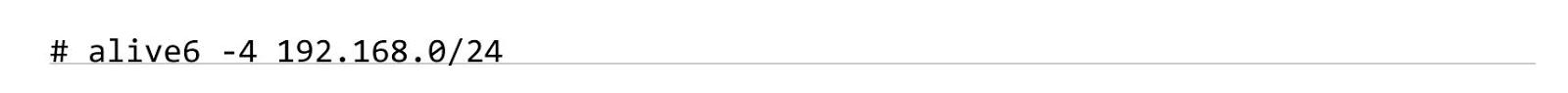 alive6 - шаблон IPv4 для перебора IPv6