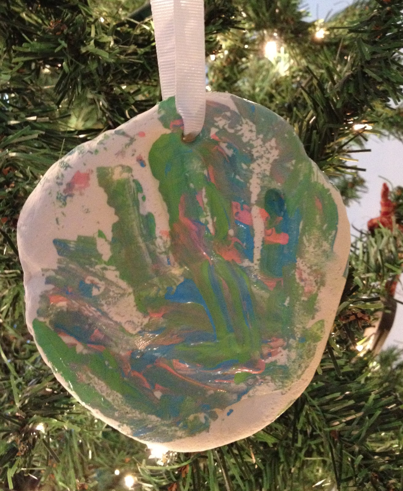Hand Print Tree Ornament