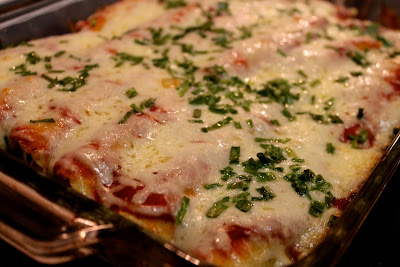 Roasted corn and chicken enchiladas