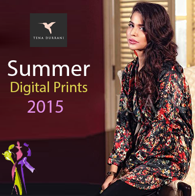 Tena Durrani Summer Digital Prints Collection 2015