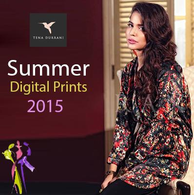 Tena Durrani Summer Digital Prints Collection 2015