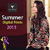 Tena Durrani Summer Digital Prints Collection 2015 for Girls
