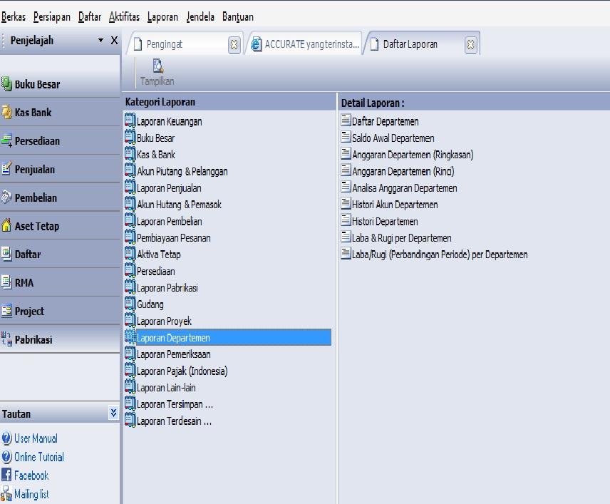 accurate software cara menampilkan laporan laba rugi