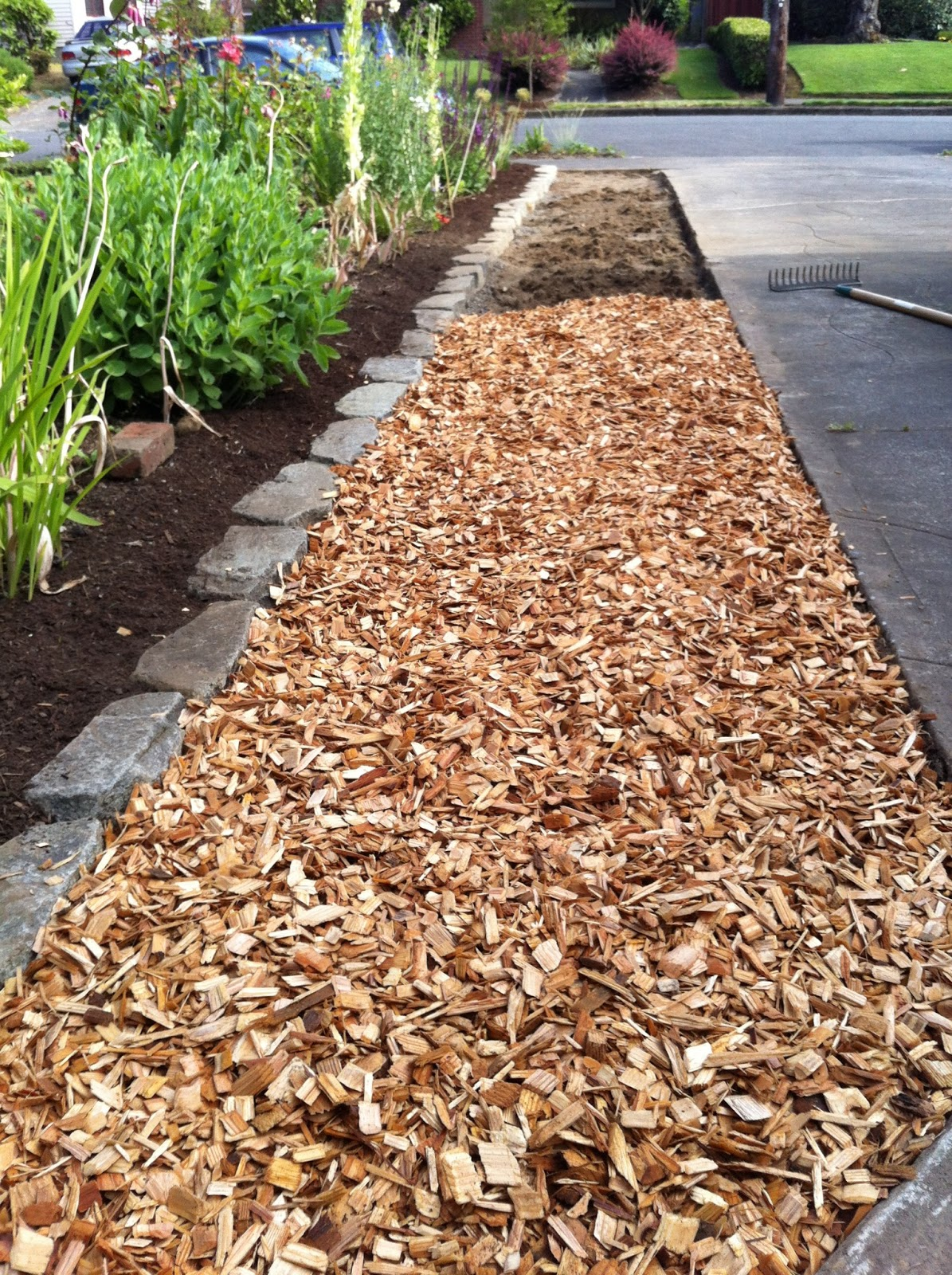 Cedar Chips Landscaping ~ Just a girl with hammer i made you cedar chip wasteland