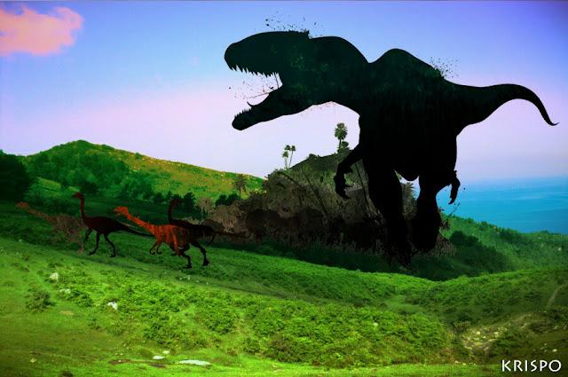 tiranosaurio cazando en Jaizkibel